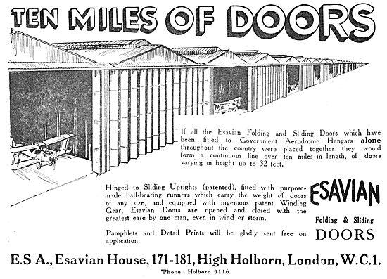 Esavian Hangar Doors 1930