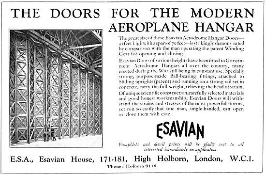 Esavian Hangar Doors 1931