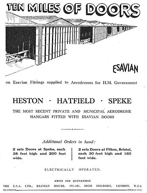 Esavian Doors & Aerodrome Fittings: Heston - Harfield - Speke