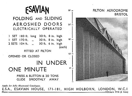Esavian Hangar Doors - Folding, Sliding, Electrically Operated