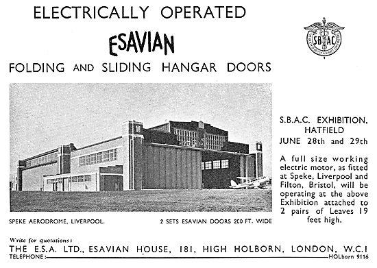 Esavian Hangar Doors - Speke