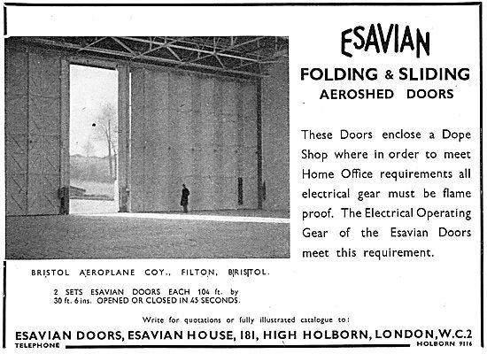 Esavian Folding & Sliding Aeroshed Hangar Doors - Filton