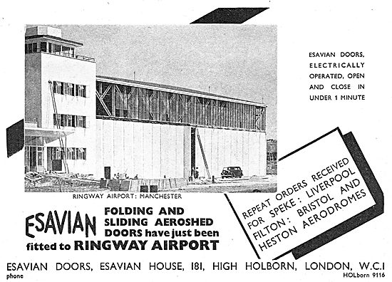 Esavian Folding & Sliding Aeroshed Hangar Doors - Ringway