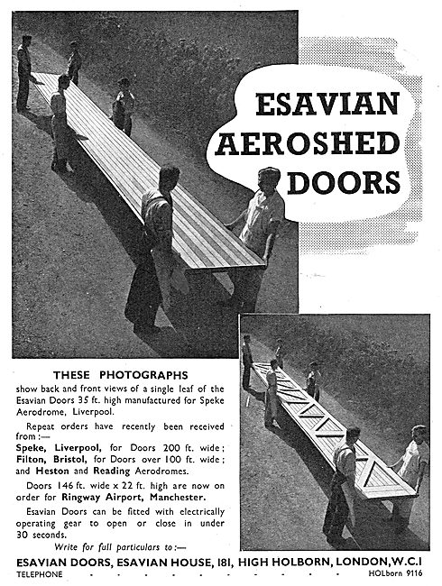 Esavian Folding & Sliding Aeroshed Hangar Doors - Speke