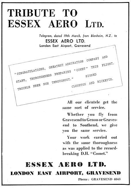 Essex Aero. Aircraft Engineering