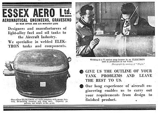 Essex Aero : Aeronautical Engineers. Gravesend