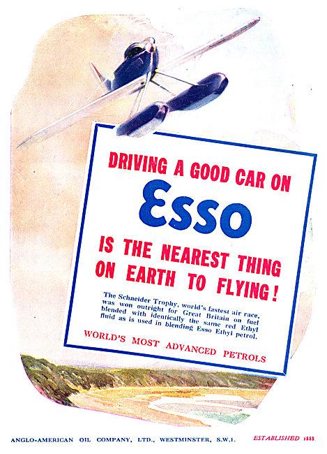 Esso Ethyl Aviation Fuel