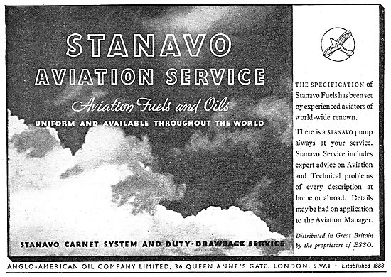 Esso Stanavo Aviation Fuel & Oil - Aviation Service