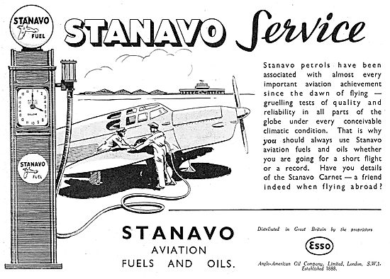 Esso Stanavo Aviation Fuel & Oil & Airport Service
