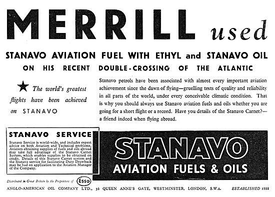 Esso Stanavo Aviation Fuel & Oil