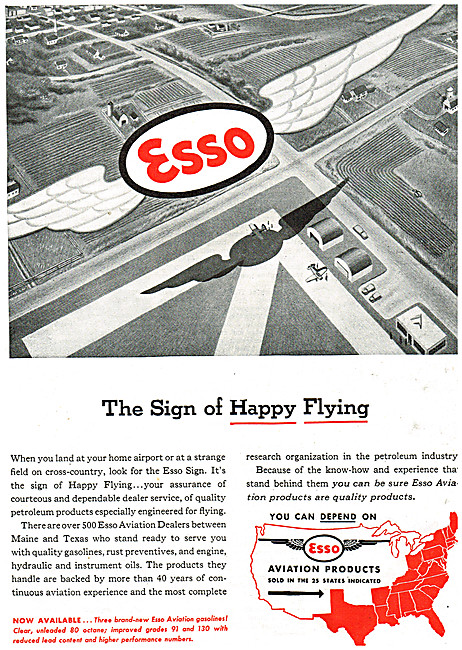 Esso Aviation Products 1946