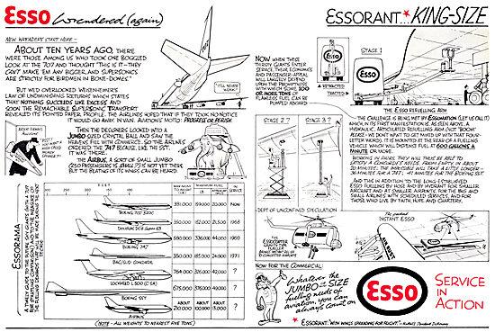 Esso Aviation Fuels & Lubricants. Wren Cartoon