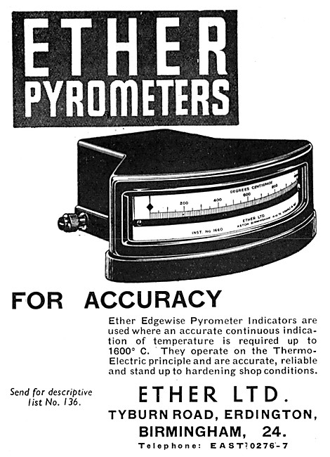 Ether Pyrometers