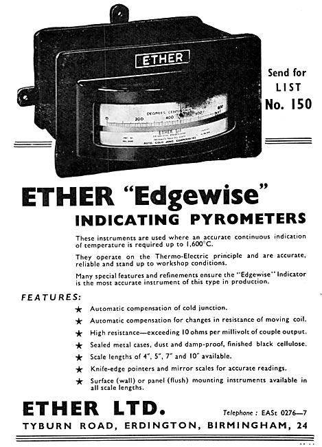 Ether Edgewise Indicating Pyrometers