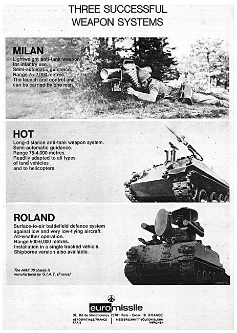 Euro Missile Milan Hot Roland 1974