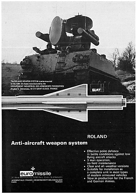 Euro Missilet Roland Weapon System