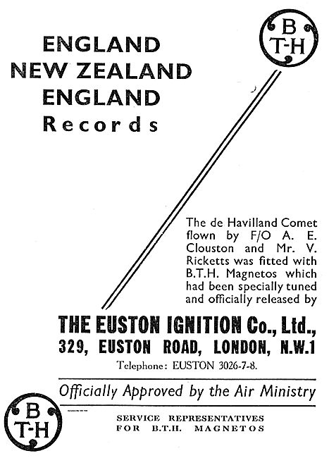 Clouston's Comet Used BTH Magnetos Tunde By Euston Ignition Co