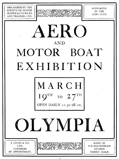 Aero & Motor Boat Exhibition. Olympia March 1909