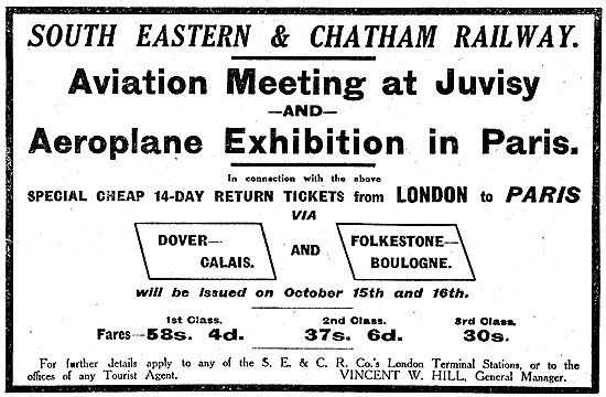 Juvisy Aviation Meeting With The South Eastern & Chatham Railway