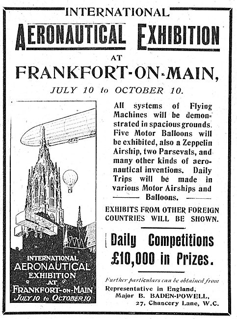 International Aeronautical Exhibition Frankfurt-On-Main Jul 1909