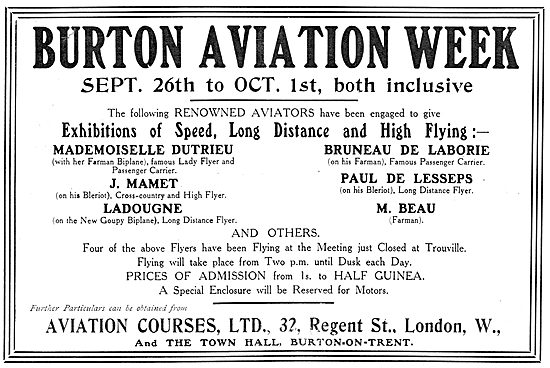 Burton Aviation Week. September 26th 1910