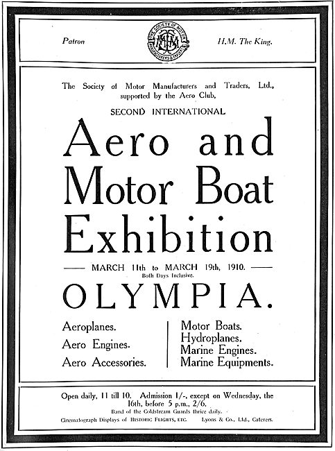 Aero & Motor Boat Exhibition Olympia March 11-19th 1910