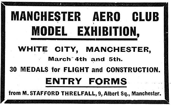 Manchester Aero Club Model Exhibition March 4th & 5th 1910