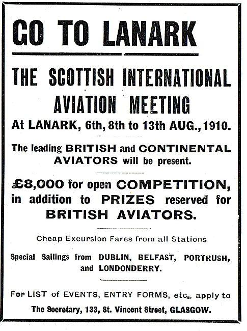 The Scottish International Aviation Meeting At Lanark
