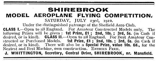 Shirebrook Model Aeroplane Flying Comp - Sheffield Aero Club