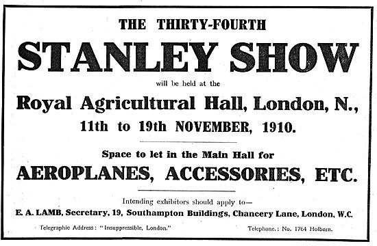 The 34th Stanley Show Has An Aviation Section In The Main Hall