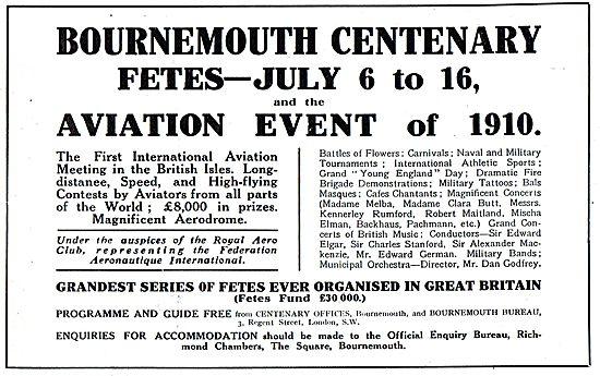 RAeC Bournemouth  Aviation Meeting July 1910