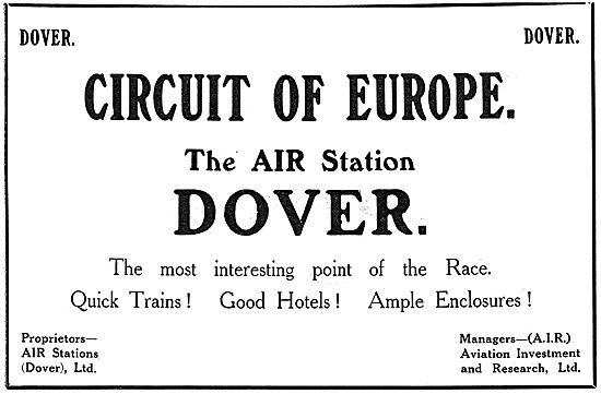 View The Circuit Of Europe From The Air Station Dover