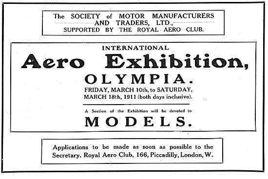 International Aero Exhibition Olympia March 10-18th 1911