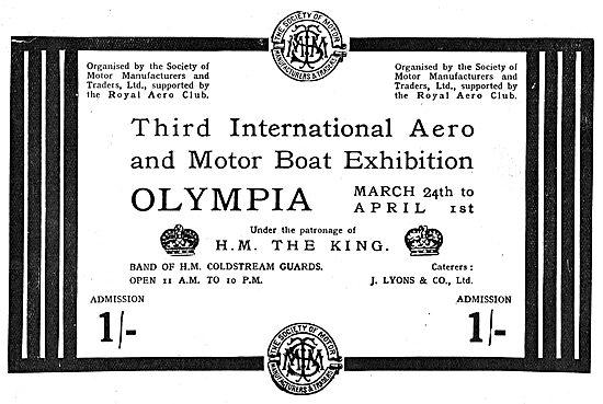 International Aero Exhibition Olympia - Patronage H.M The King