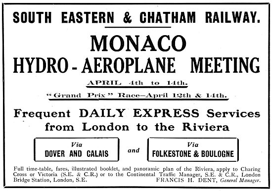Monaco Hydro-Aeroplane Meeting April 1913