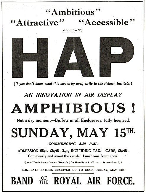 Hamble Air Pageant Sunday May 15th 1927