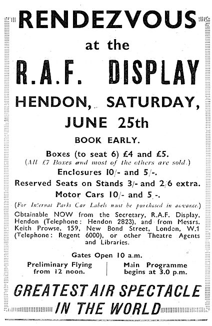 RAF Display Hendon JUne 25th 1932