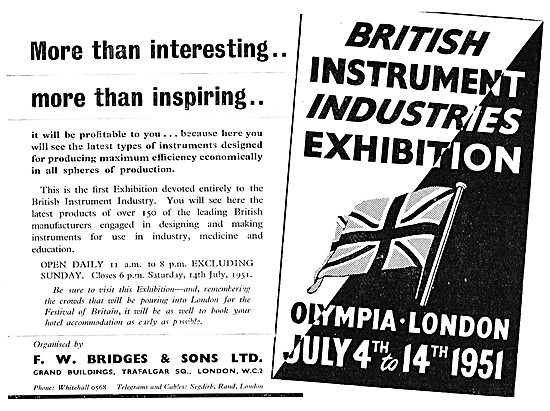 British Instrument Industries Exhibition - Olympia July 4th 1951