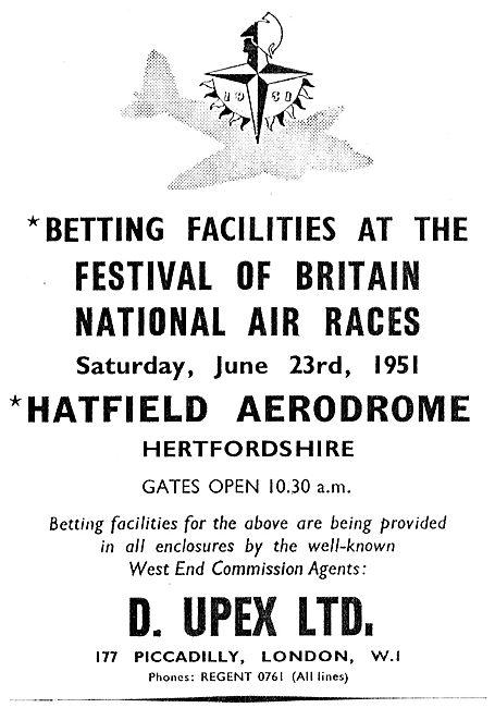 Festival Of Britain National Air Races Hatfield - June 23rd 1951