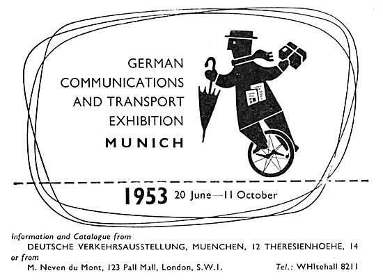 German Communications & Transport Exhibition Munich June  1953