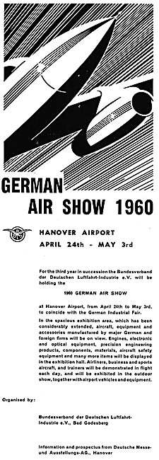German Air Show 1960 Hanover Airport