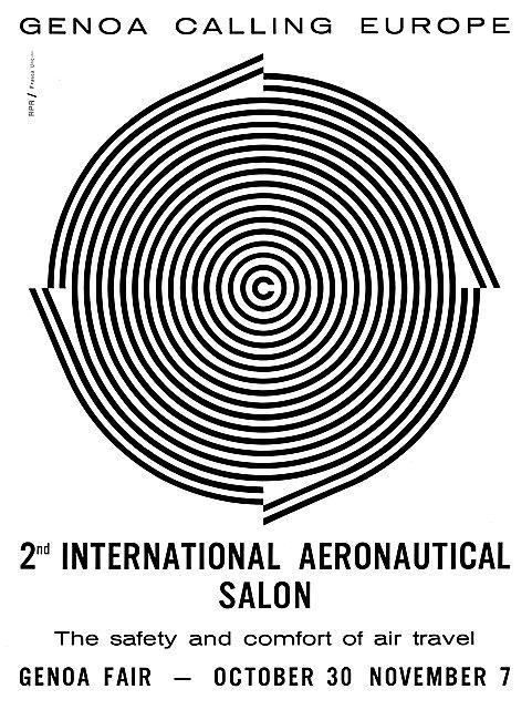 2nd International Aeronautical Salon. Genoa October 1965