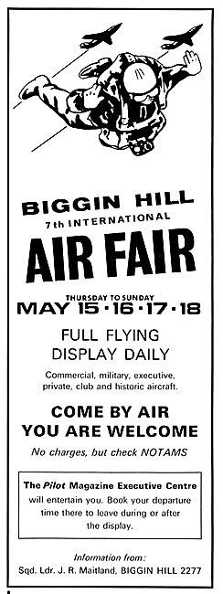 Biggin Hill International Air Fair May 15th - 18th 1969
