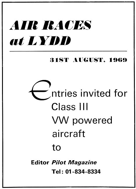 Air Races At Lydd 31st August 1969 - VW Powered Aircraft