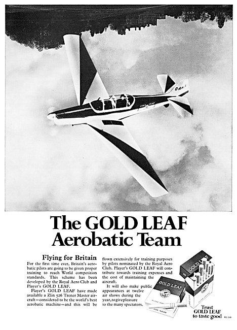 Players Gold Leaf Aerobatic Team 1969 - ZLIN Trener