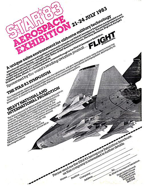 STAR 83 Aerospace Exhibition - At IAT Greenham Common