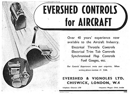 Evershed & Vignoles Electrical Throttle & Trim Tab Controls