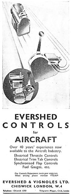Evershed & Vignoles Aircraft Controls