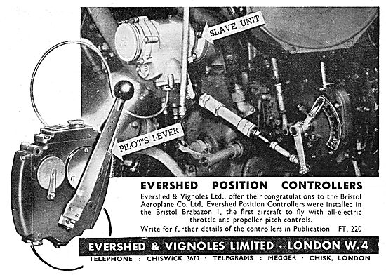 Evershed & Vignoles Aircraft Controls