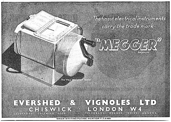Evershed & Vignoles Megger Insulation Tester